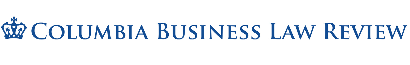 link to Columbia Business Law Review site