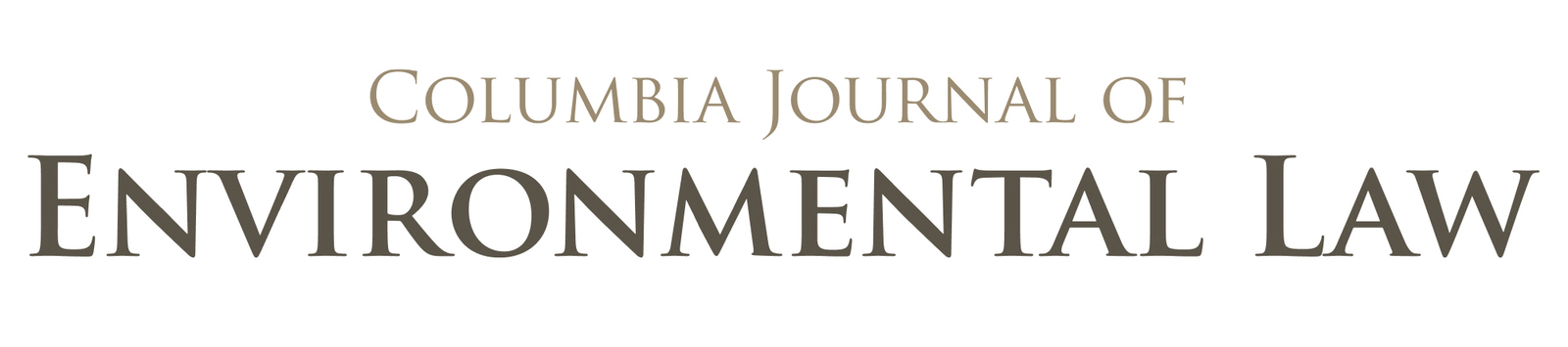 link to Columbia Journal of Environmental Law site