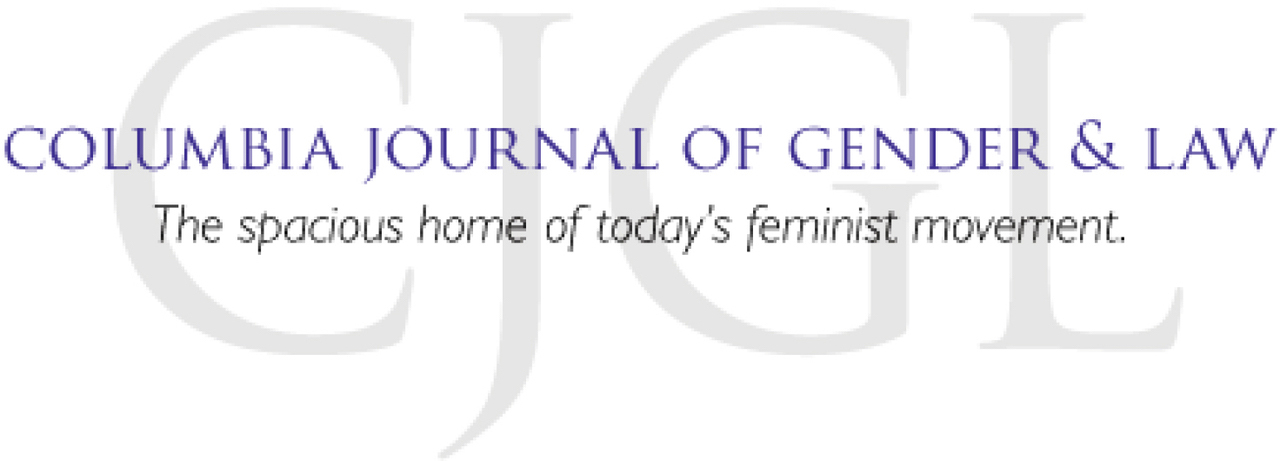 link to Columbia Journal of Gender and Law site
